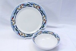 Oneida Snow Valley Chop Plate Platter and Serving Bowl Lot of 2 - $39.19