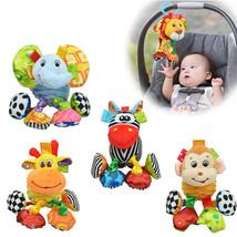 Cute Plush Baby Crib Hanging Animal Teether Toy Rattle Ring Soft Bell Mu... - $9.87