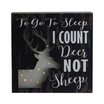 "Northlight 8""x8"" LED Fiber Optic DeerI Count Deer Not Sheep Wall Art Decor - $16.57"