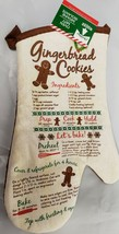 "Printed Kitchen 13"" Oven Mitt, WINTER CHRISTMAS, GINGERBREAD COOKIES REC... - $7.91"