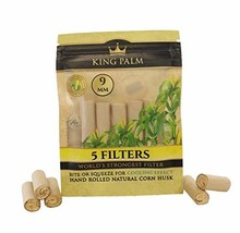 King Palms Hand Rolled Corn Husk Filters - 9mm - 5 Filters/Pack - 1 Pack