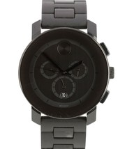 Men's Movado BOLD Black Stainless 43.5mm Swiss Quartz Watch MB.01.1.29.6016 - $299.95