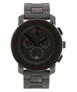 Men's Movado BOLD Black Stainless 43.5mm Swiss Quartz Watch MB.01.1.29.6016 - $299.95