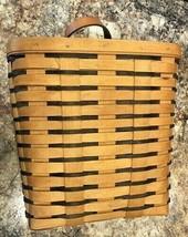 Vintage 1997  Longaberger Rectangular Basket W Bracket to Hang on Wall Tall - $49.49