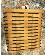 Vintage 1997  Longaberger Rectangular Basket W Bracket to Hang on Wall T... - $49.99