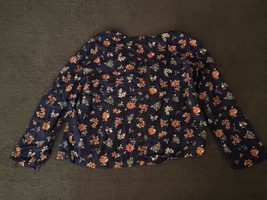 Carters Long Sleeve Toddler Girls Shirt (SIZE 5T)  Blue With Flowers - $10.79