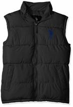 Us Polo Assn Men's Premium Athletic Classic Soft Puffer Zip Up Vest Black