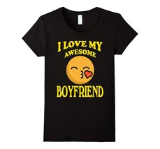 New Shirt - Kiss Heart Family T-shirt I Love My Awesome Boyfriend Wowen - $19.95+