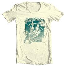 Retro Aquaman T-shirt Classic Golden Age DC comics graphic cotton tee DCO162 image 1