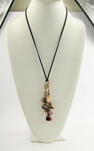 "24"" ESTATE VINTAGE Jewelry CHUNKY GEMSTONE NUGGET CHARM DANGLE PENDANT N... - $10.00"