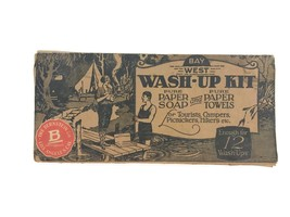 Vintage 1920 Bay West Wash-Up Kit Los Angeles Motorists Autos Campers To... - $23.33