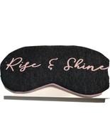 """Gray Pink Sleep Eye Mask """"Rise & Shine"""" Logo Sleeping Night Blindfold Ey... - $8.54"""
