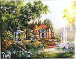 Cross Stitch Needlepoint Kit Beautiful House and Scenery Hobby Products 14C - $22.72
