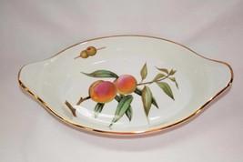 "Royal Worcester England Evesham 11"" Augratin Dish #1645 - $25.00"