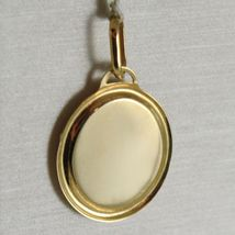 PENDANT MEDAL YELLOW GOLD 750 18K, POPE FRANCIS, ENAMELLED, MADE IN ITALY image 3