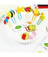 XUES® 12PC/Lot Cute AnimalCartoon Painted Wooden Paperclip BurstModel St... - $1.23