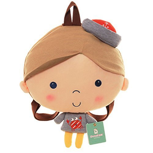 Infant Knapsack Baby Cartoon Backpack Prevent From Getting Lost(Orange Hat)