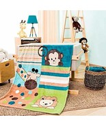 DreamPartyWorld Multicolored Animals Light Baby Blanket Crib Size Soft a... - $38.56