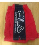 Fila International Red Blue Shorts Swim Trunks Vintage SZ XL - $17.81
