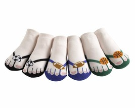JazzyToes® Little Athletes Flip Flop Socks-Gift Set of 3-0 to 12 Months - $16.99