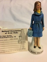 "1975 NAAC Avon Clubs Blue Lady Figurine Decanter Bottle 7.5"" Tall  #3825... - $14.99"