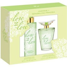 NEW Coty Love 2 Love Jasmine & Sparkling Mimosa Eau De Toilette Gift Set - $24.89