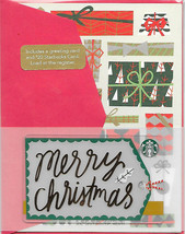 Starbucks 2016 Merry Christmas Special Edition Greeting Card Set New No ... - $7.99