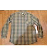 North Face Mens  Green Plaid Long Sleeve Button Down Shirt, 100% Cotton, XL - $19.79