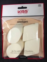 KISS NEW YORK 4 PACK WEDGES FOR USE WITH LIQUID FOUNDATION WED01 - $1.99