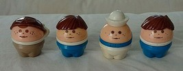 Lot of 4 Chunky Little People Tykes Toddle Tots Tikes Sailor, Pilot & 2 Others - $12.00