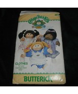 VINTAGE CABBAGE PATCH KIDS BUTTERICK DOLL CLOTHES PATTERN SEW SEWING # 6934 - $14.96