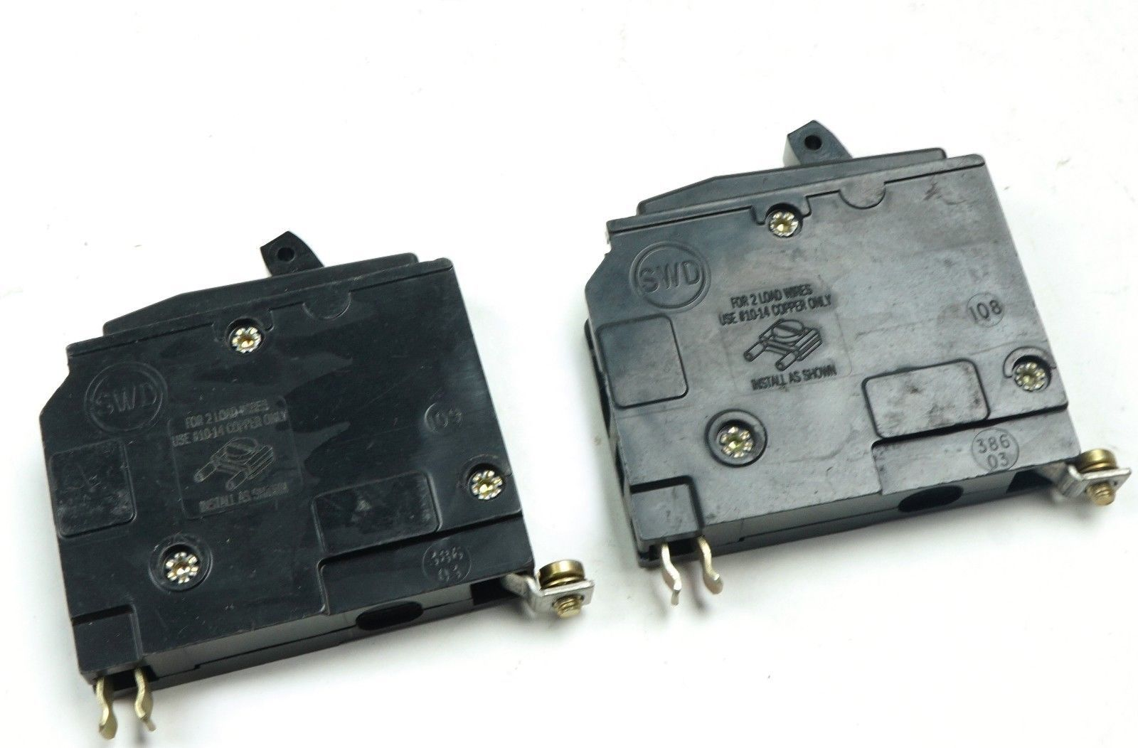 Lot Of 2 Square D Qob115 Type Qob Bolt On And 41 Similar Items Circuit Breaker 1pole 120vac 15 Amp 1 Pole 15a