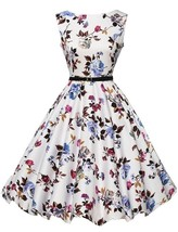 50'S 60'S ROCKABILLY DRESS Vintage Style Swing Pinup Retro Housewife Par... - $16.14