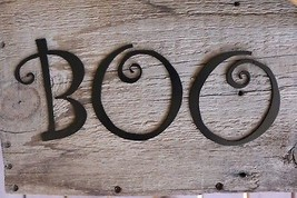 BOO METAL WALL ART/PUMPKIN ART/HALLOWEEN DECOR - $9.99