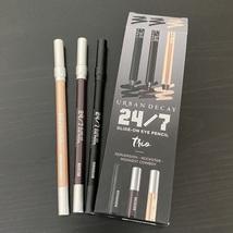 3 Urban Decay 24/7 Glide-On Eye Pencils: Perversion, Rockstar, Midnight ... - $39.00