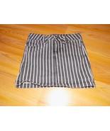 Size 7 Total Girl Black White Striped Denim Mini Skirt Jack Skeleton Bou... - $15.00