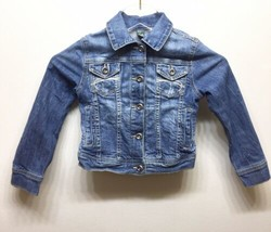 Zara Kids Girls Distressed Denim Jacket 4-5 Yrs Blue - $22.44