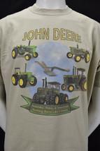 Vintage John Deere Tractors Tee Shirt Yesterday Today Tomorrow XL - $21.00