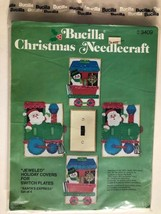 Bucilla Christmas Needlecraft~Jeweled Holiday Switch Plate Covers~3409~Train - $7.43