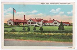 US Indian Hospital Claremore Oklahoma linen postcard - $5.94
