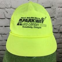 Parkway Auto Center Neon Trucker Hat Roseburg OR Vintage SnapBack - $19.79