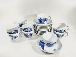 10x Royal Copenhagen Blue Flower 1549 Coffee Cup and Saucer Scandinavian... - $279.57