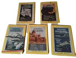 Lot Vintage Magazines (1965) National Geographic Magazine (5 Issues) Bac... - $2.50