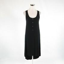 Black TAHARI stretch sleeveless hi-lo dress S - $39.99