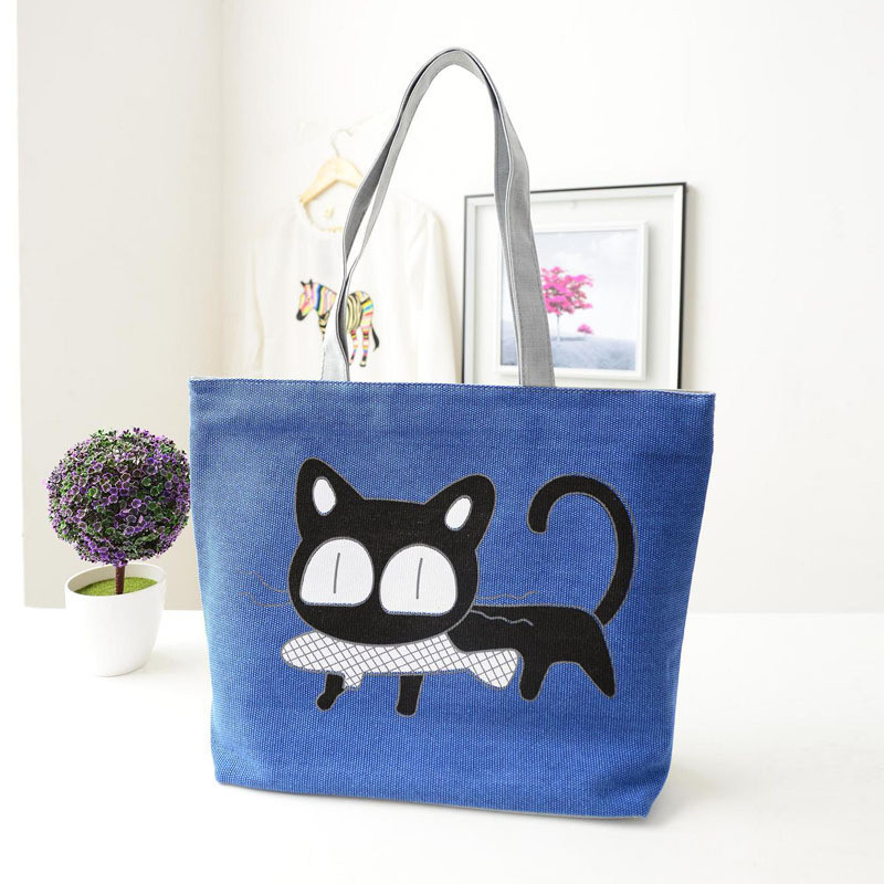 Beach bags Famous Cat Large Shoulder Tote image 2