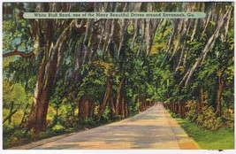 Georgia Postcard Savannah White Bluff Road - $2.22