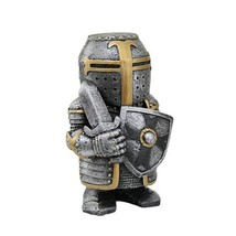 PTC 4.5 Inch Armored Medieval Knight with Sword and Shield Statue Figurine - $14.99