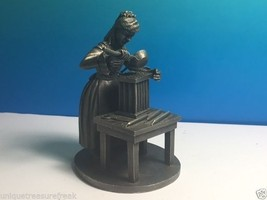 Franklin Mint American People Pewter Figurine Statue 1974 Candle Maker Hinote Fm - $24.75
