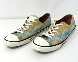 Converse All Star Missoni Blue Pink Glitter Size 7 Low Top Shoes  - $23.38