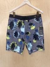 "$58 NWT RVCA VA Trunk Boardshorts Print 19 Mid Length 19"" WHT Floral Siz... - $39.59"